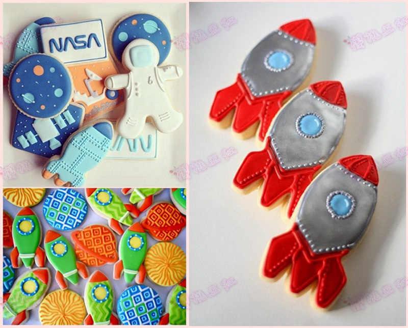 Heartmove nova chegada venda direta forma de foguete bolo decoração cortadores fondant ferramentas diy bolo biscoito molde cozimento 8144