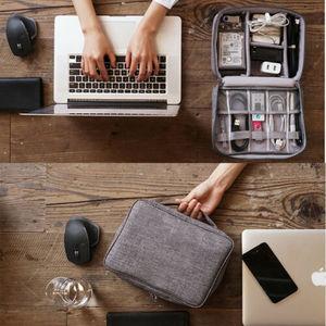 Image 2 - Bolsa de almacenamiento Digital AU, estuche organizador de dispositivos de viaje para disco duro/USB/Cable de datos