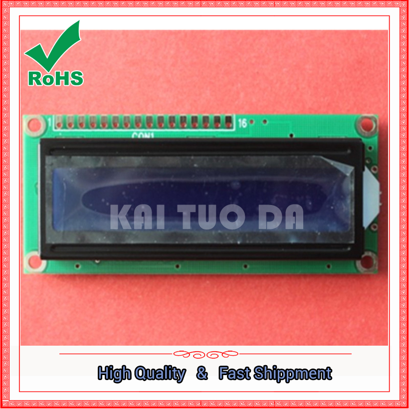 1602 LCD screen 1602A LCD module backlight blue on the white character type LCD1602A-5V LCD1602