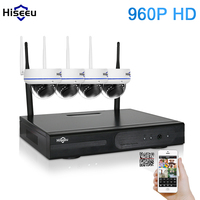 4CH 960P HD Wireless CCTV System Mini Dome Powerful WIFI NVR IP Camera IR CUT CCTV