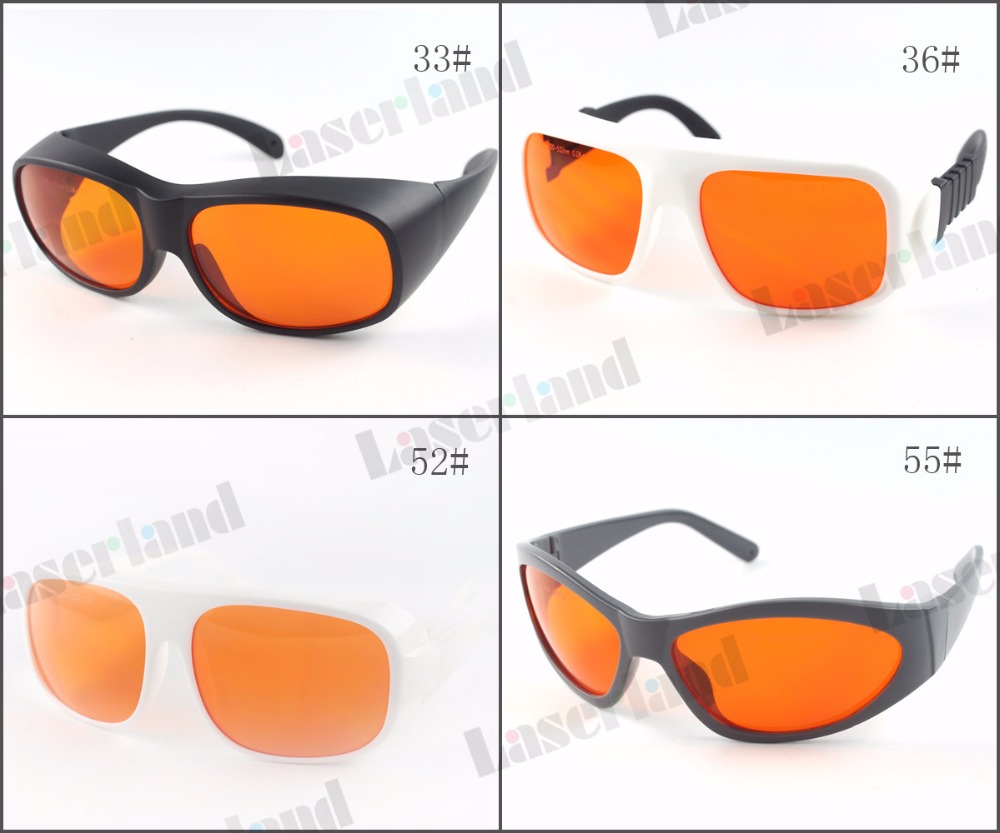 Laserland LP-GHP 200nm - 532nm OD 6+ Blue Green Laser Protective Goggles Safety Glasses T=50% ghp 206