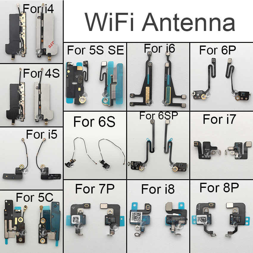 Antena original Wifi señal Wifi Flex Cable para iPhone 4 4S 5 5C 5S SE 6 6S 6SP 7 8 Plus X XS X XR XSM Max piezas de repuesto
