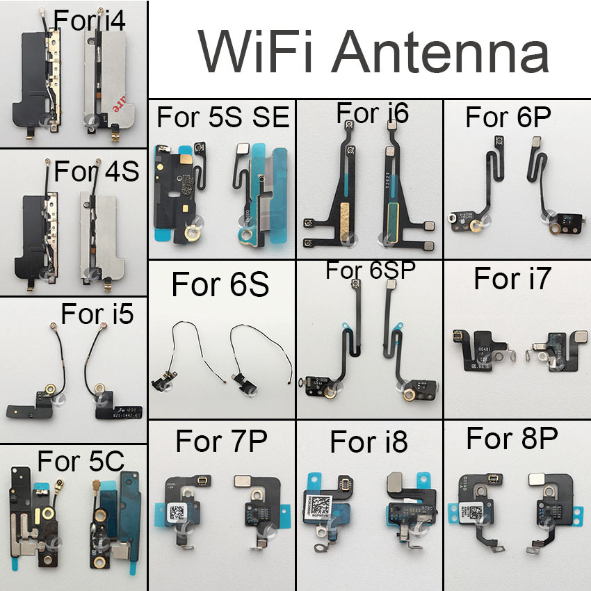 Original Wifi Antenna Signal Wifi Flex Cable For IPhone 4 4S 5 5C 5S SE 6 6S 6SP 7 8 Plus X XS XR XSM Max Replacement Parts