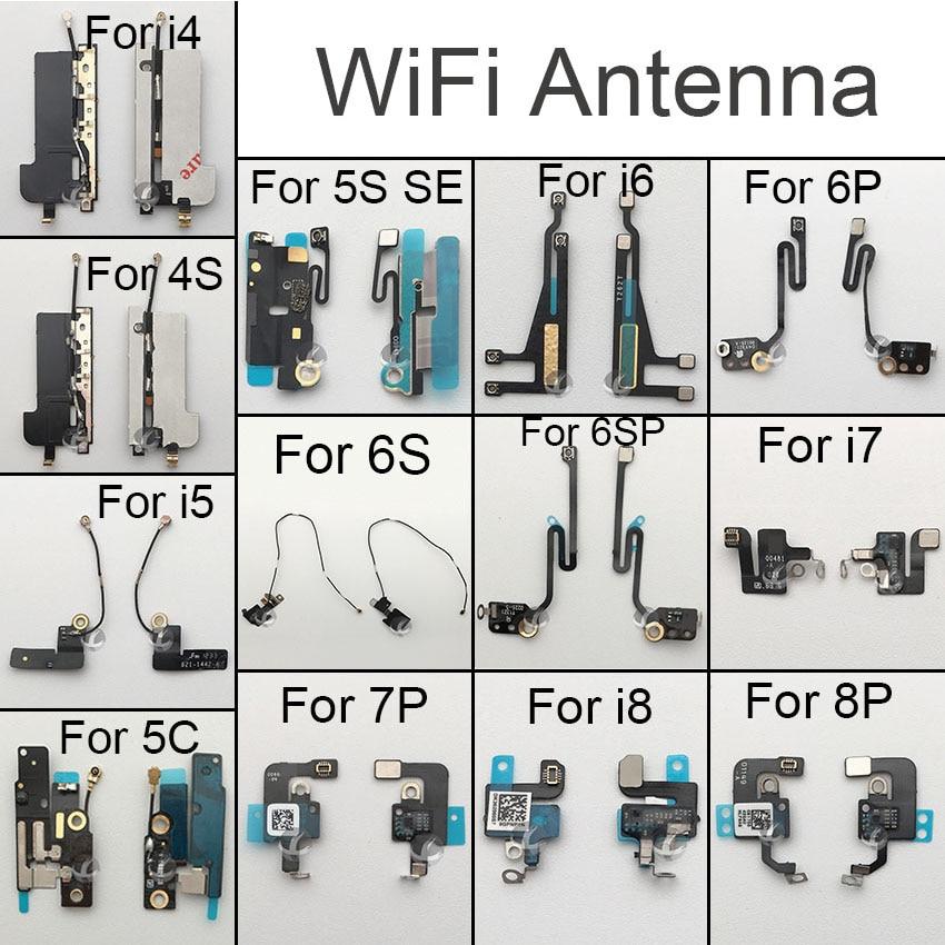 Original Wifi Antenna Signal Wifi Flex Cable For IPhone 4 4S 5 5C 5S SE 6 6S 6SP 7 8 Plus X XS XR XSM Max Replacement Parts