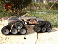Oficial DOIT Super GRANDE Carro Tanque Chassis Crawler Intelligent Robot Diy Kit de Desenvolvimento de Brinquedo Trator
