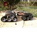 Oficial DOIT Super GRANDE Tank Car Chassis Crawler Inteligente Robot Bricolaje Kit de Desarrollo de Tractor de Juguete
