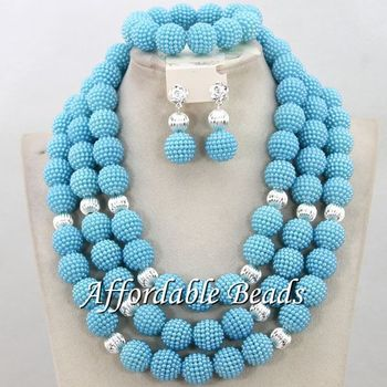 Wholesaler Crystal Beads Jewelry Set Unique Bridal Jewelry Set Popular Style Free Shipping BN495