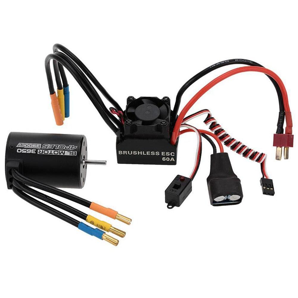 3650 3900KV 4P Sensorless Brushless Motor&60A Brushless Splash-Proof ESC new 2838 4500kv 4p sensorless brushless