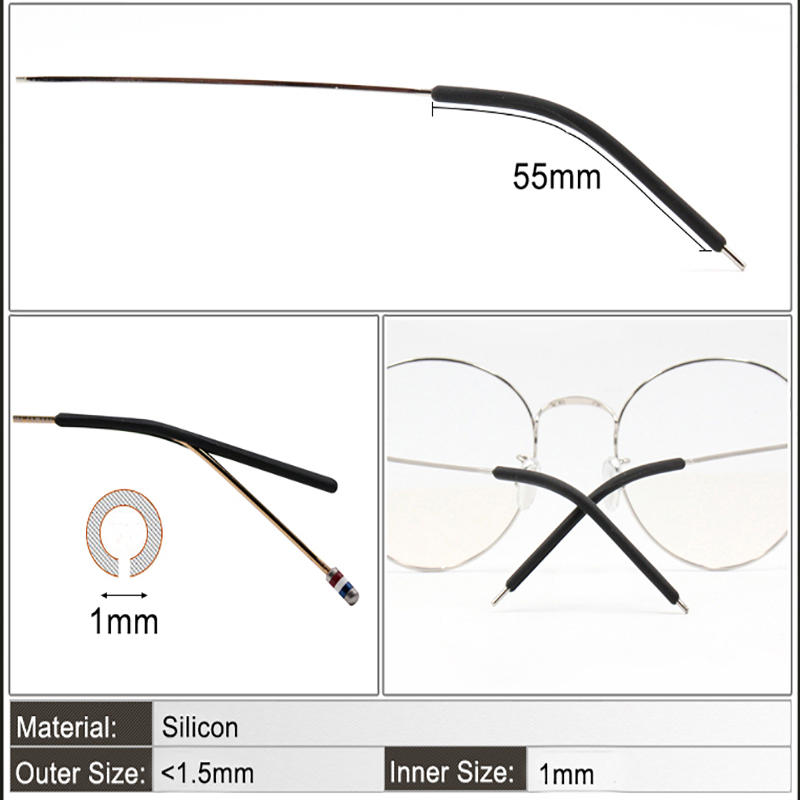 COLOUR_MAX 4 Colour Anti Slip Spectacle Grip Glasses Ear Hook Anti Slip Silicone Eyeglasses Glasses Tie Leg in Eyewear Accessories from Apparel Accessories