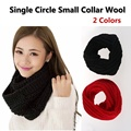 2017 New Fashion Women Scarf Pullover Warm Circle Cable Knit Cowl Neck Long Scarf Shawl knitted Crochet Scarf Solid Winter Scarf