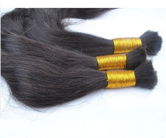 Factory Price 100% Natural Virgin Human Hair Bulk #1B Straight Hair for Braiding Cabelo Humano Straight