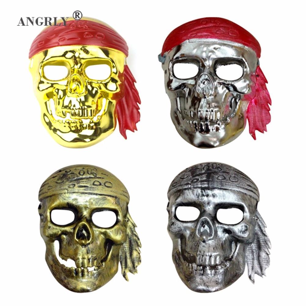 Halloween Pirates of The Caribbean Skull Terrorist Masks of Terror Masquerade Full Face Mens and Womens Masks Party Mask