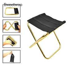 Foldable Picnic Fishing Chair Lightweight Folding Aluminium Oxford Cloth Outdoor Portable Easy To Carry Tools