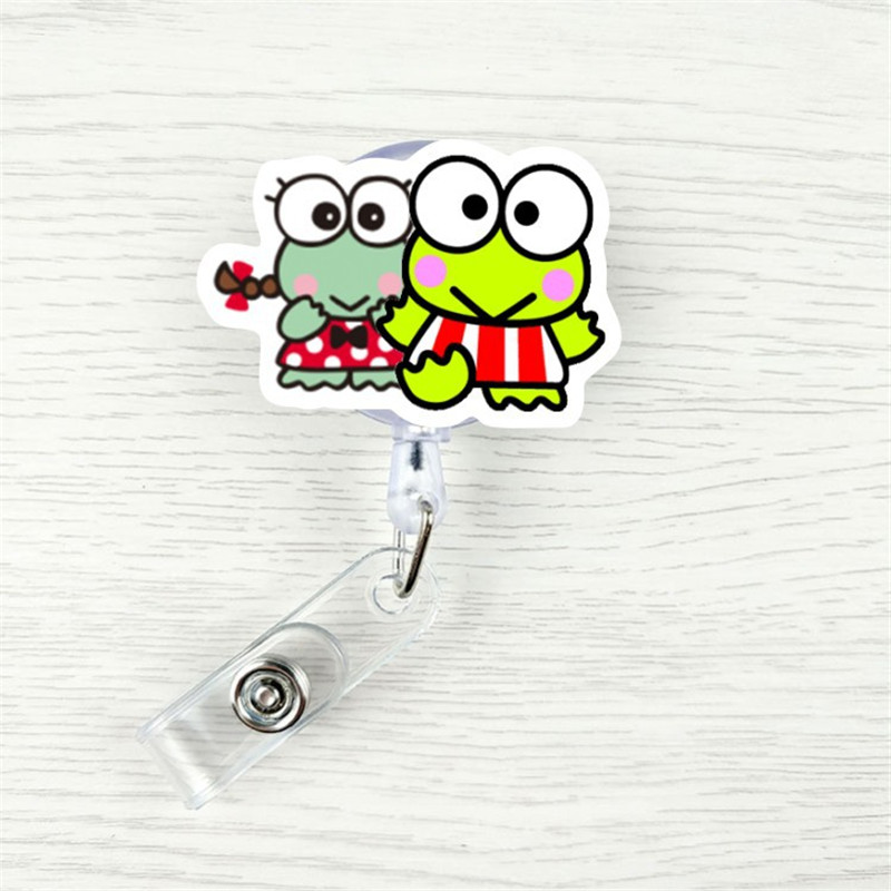 Style Cute Frog Dog Mouth Cat Retractable Creative Plastic Badge Holder Reel Student Nurse Exhibition Name Card Chest Card