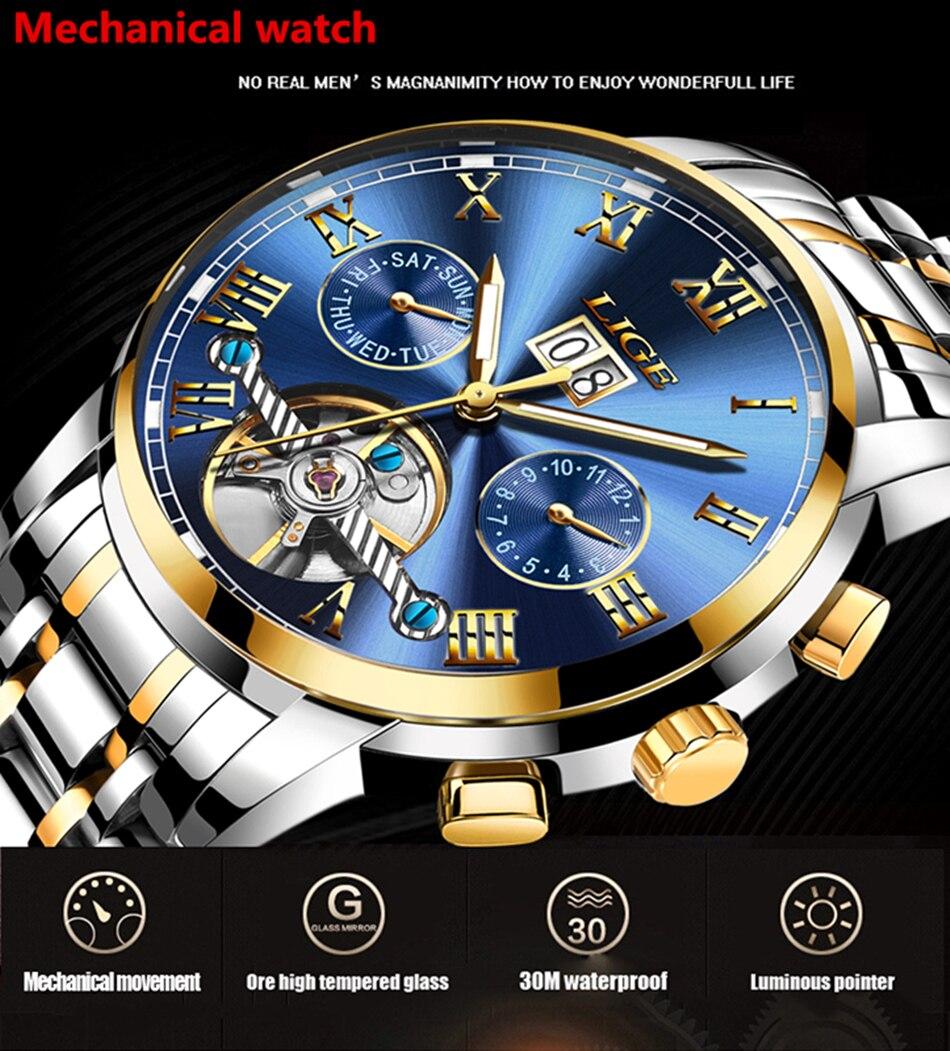 HTB1ZF49VFzqK1RjSZFoq6zfcXXaP Mens Watches Top Brand LIGE Fashion Luxury Business Automatic Mechanical Men Military Steel Waterproof Clock Relogio Masculino