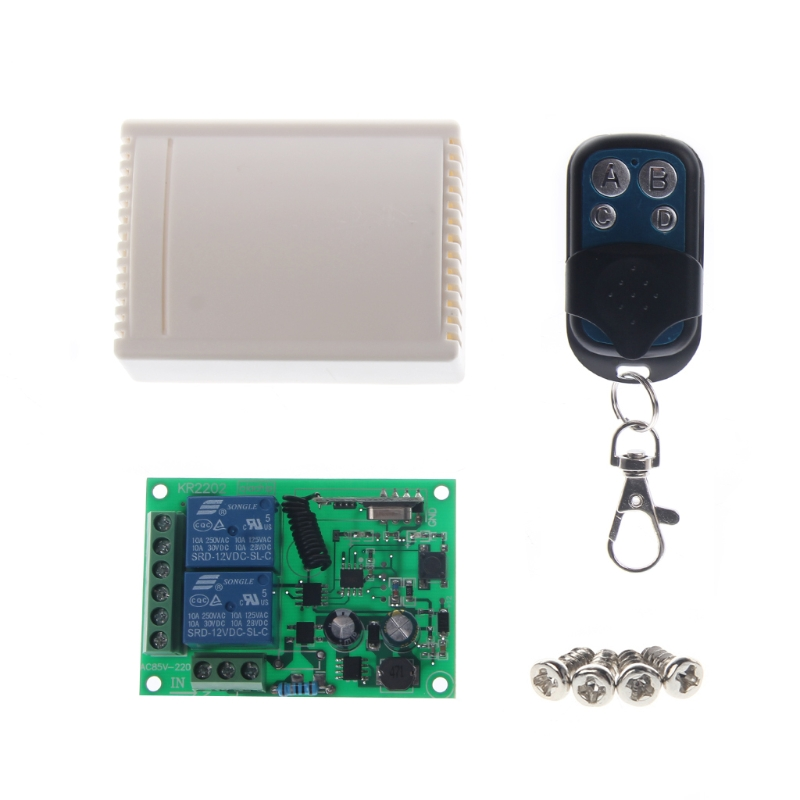 433 MHz Universal Wireless Remote Control Switch AC 85V-250V 110V 220V 2CH Relay Receiver Module L25 85v 250v remote relay control switch 8ch receiver