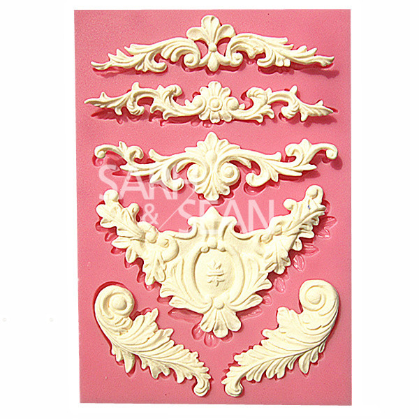 M0526 European relief lace mold fondant cake molds  chocolate mould for the kitchen baking Silicone Sugar Decoration