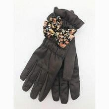 FLYBER Elegant Solid Women Full Finger Gloves Multicolor Bow