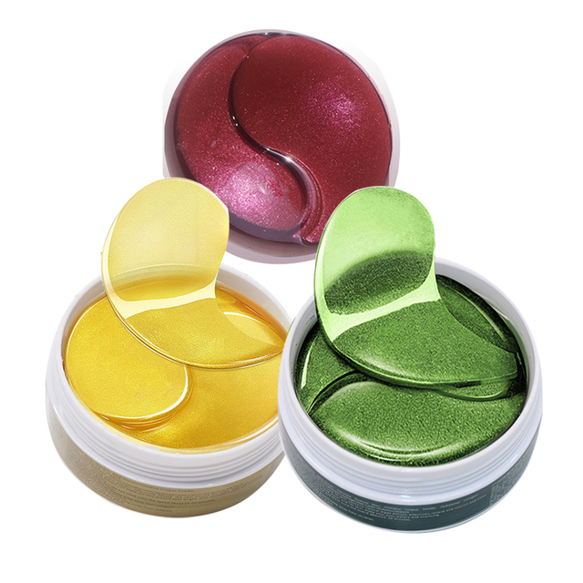 Green Golden Collagen Eye Mask 60pcs Ageless Anti Wrinkle Eye Bags Dark Circles Puffy Green Gold Gel Eyes Patches Eye Serum Skin Care