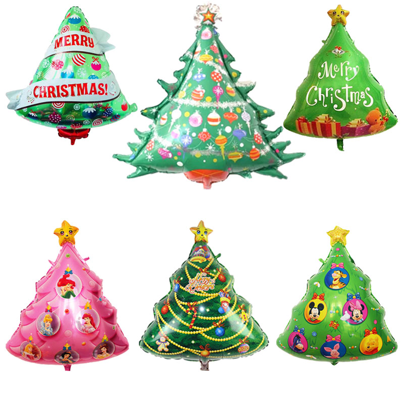Christmas Tree Balloon.Us 0 37 25 Off Christmas Tree Balloons Merry Christmas Tree Helium Balloon Plant Foil Balloon Christmas Party Decorations Xmas Inflatable Toys In