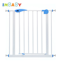 IMBABY 66~84cm Metal Iron Gate Child Baby Stair Fence Pet Dog Grid Railing Isolating Garden Gate