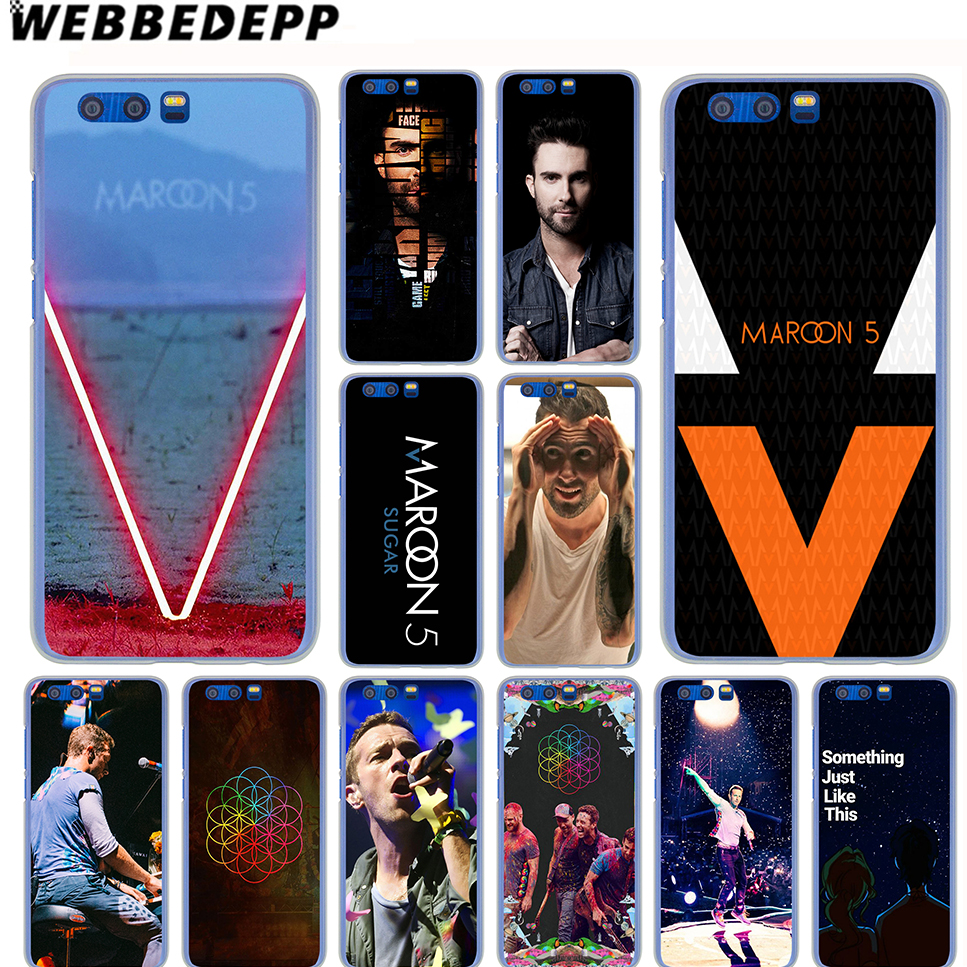 WEBBEDEPP Maroon 5 Coldplay Bands Case for SamSung Galaxy A8(Plus)A7 A5 A3 2018 2017 2016 2015 & Grand Prime Note 8 5 4 3