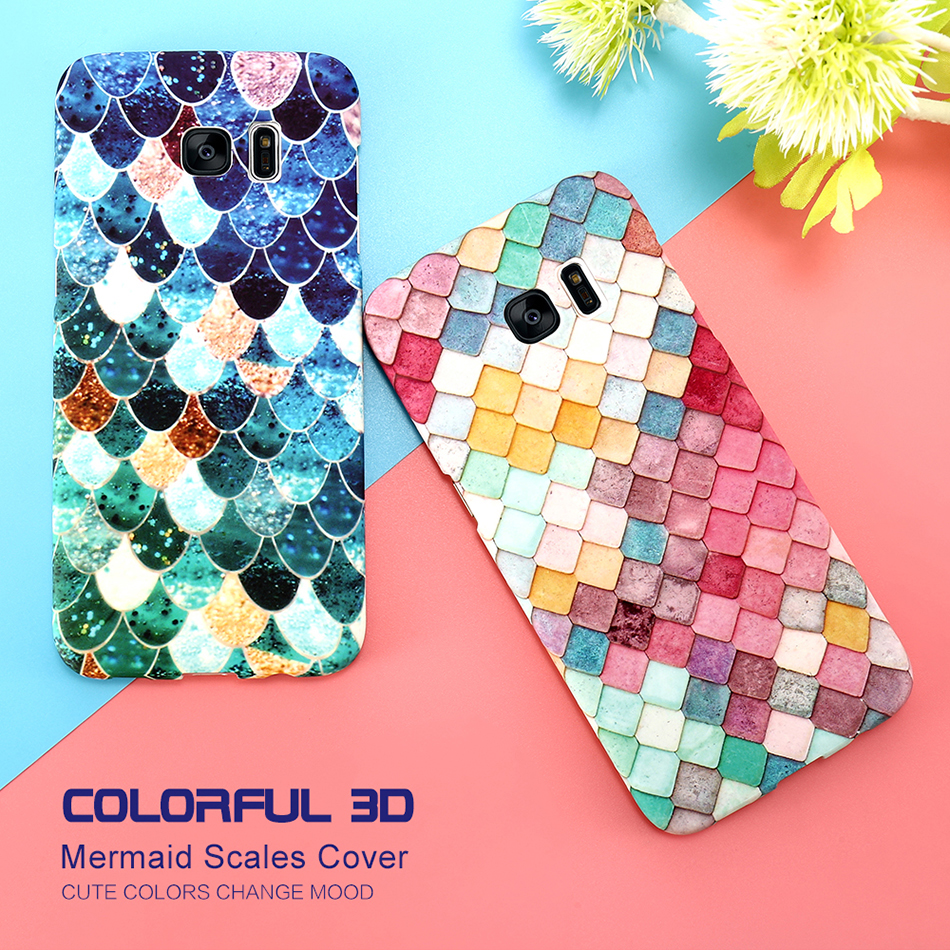 3D Scales Colorful Case For Phone 6 5 6S 7 Plus  (1)