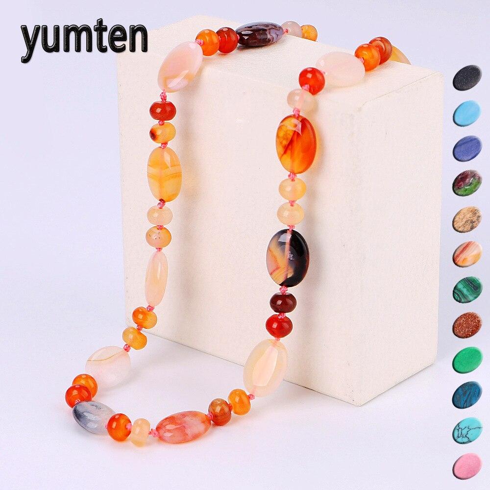 Yumten étoile Vintage femmes collier ensemble cristal puissance pierre naturelle chaîne charme pierre gemme Reiki guérison hommes déclaration Fine bijoux