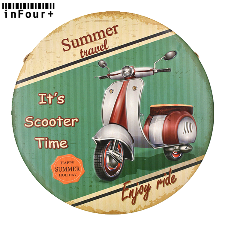 CAFE RACER FESTIVAL   METAL TIN SIGN WALL CLOCK