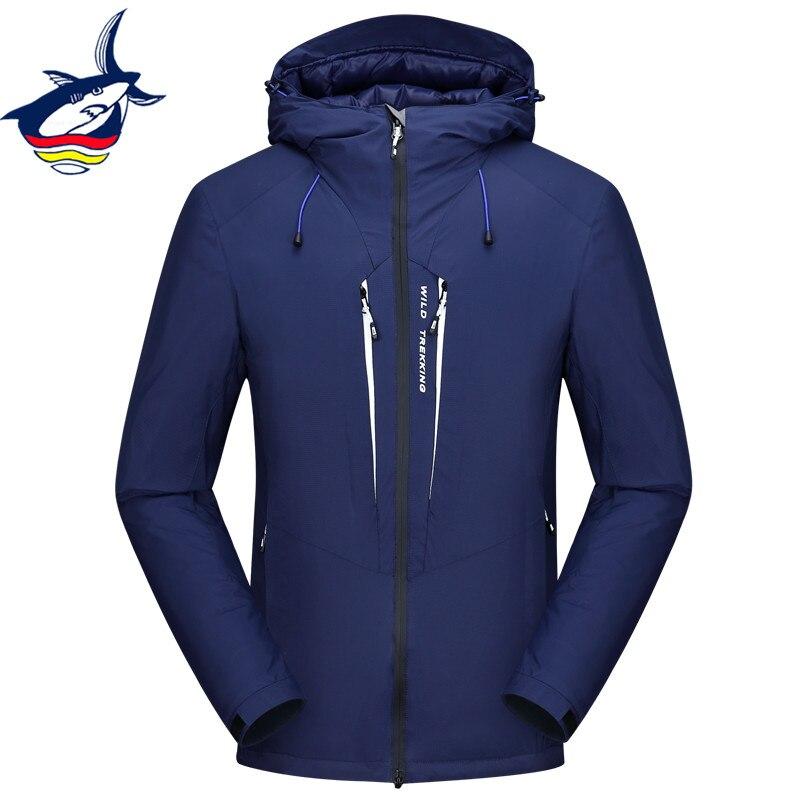 Veste d'hiver de marque Tace & requin hommes de haute qualité veste en duvet de canard blanc plume d'oie épaissir coupe-vent manteau hommes