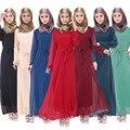 18 цвета Твердые турецкая исламская одежда для женщин robe longue femme исламского abayas турецкую одежду для женщин мусульманин платье абая