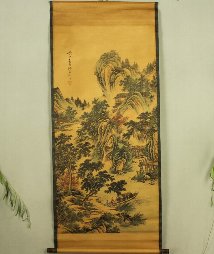 √Antique painting traditional Chinese The landscape between under ...