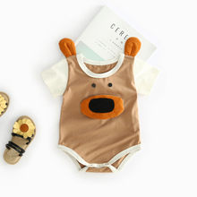 Toddler romper Newborn Baby Boy Girl Cartoon Printed 3D Bodysuit Romper Costume Clothes baby romper summer#p30US(China)