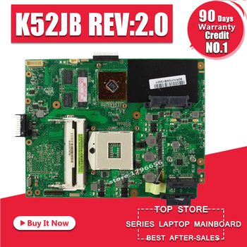 K52JB REV2.0 Laptop Moederbord Voor ASUS A52J X52J K52J K52JR K52JE K52JC K52JU K52JB Moederbord test 100% OK