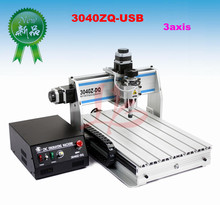 3 axis CNC router 3040 ZQ-USB, Woodworking Carving Machine with USB Port and ball screw