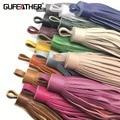 GUFEATHER L77/13CM Genuine Leather tassel/tassel/jewelry accessories/hand made/jewelry making/DIY jewelry/embellishments