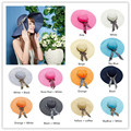 2017 New Hats For Women Cashmere Wool Fedoras Dome Rolled Straw Beanies Circular Caps Summer Fedoras Sun Hat floppy hat