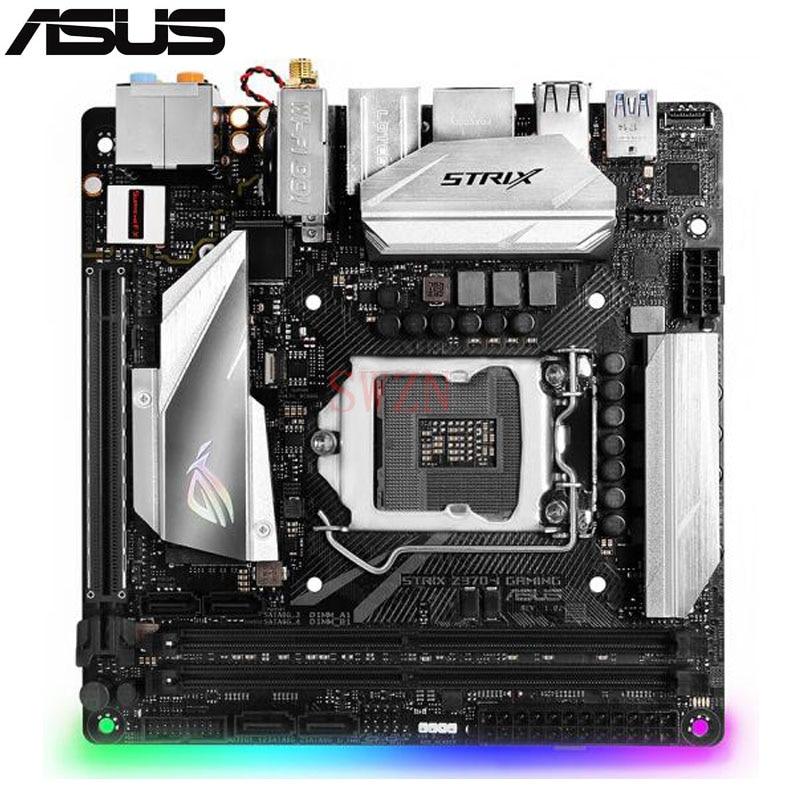 original New Desktop motherboard For ASUS ROG STRIX Z370-I GAMING Z370 LGA 1151 2*DDR4 support 32G 4*SATA III 2*M.2 Mini-ITX asustek asus rog strix z370 h игровой материнской платы intel z370 lga 1151
