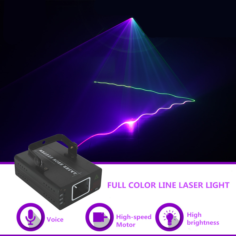 Mini 500mw Red Green Blue Rgb Laser Beam Line Projector Light Dj Ktv