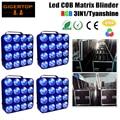 Free Shipping Flightcase 4in1 With 4x4 Led Matrix Light 16*30W RGB 3IN1 Tianxin COB DMX 512 Control Led Matrix Blinder Powercon