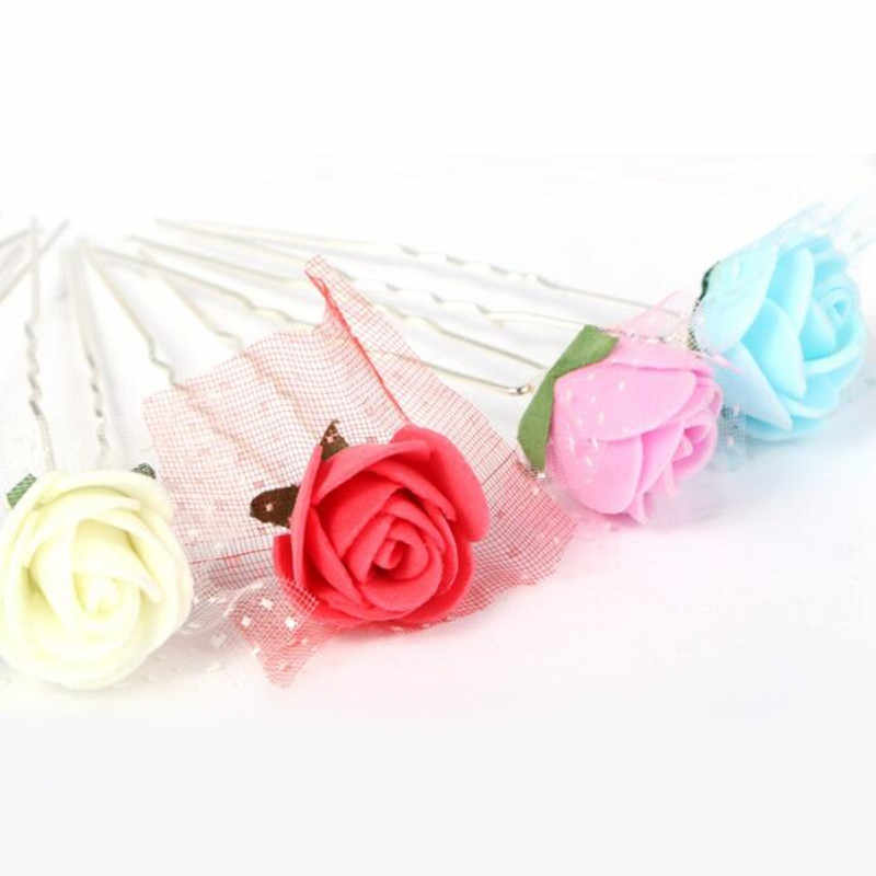 Selling Women Girls Fashion Hairpins Flowers U Clips Wedding Bridal Hair Pins Styling Tools Decoration Headwear Hair Sticks Clip
