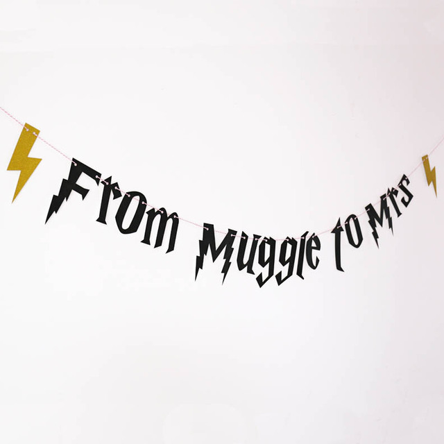 Fresh From muggle to Mrs Banner ,hen party Banner,Bachelorette Party  ML23