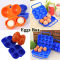 2016 New 2 Colors Portable Carry 2/4/6/12 Eggs Container Holder Storage Box Case Folding Plastic Free Shipping