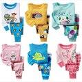 2016 primavera otoño Kids Pijamas muchachas de los bebés ropa tigre de manga larga pijama de algodón Pijamas Pijamas de los niños Pijamas Pijamas