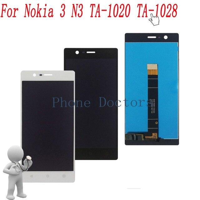 """5.0 """"מלא LCD תצוגה + מסך מגע Digitizer עצרת עבור Nokia 3 N3 TA-1020 TA-1028 TA-1032 TA-1038; 100% נבדק"""