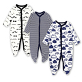 2018 AGLDI 3pcs/set Baby Romper Carters Newborn Clothes long Sleeved 100%cotton cartoon Infant Clothing 0-12months