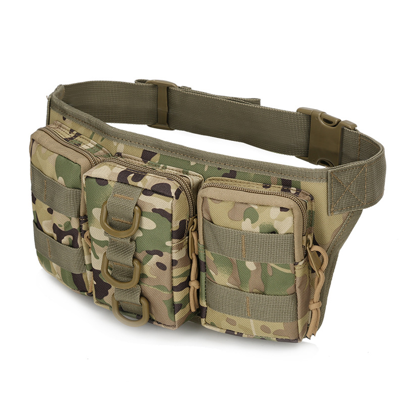BERAGHINI Military Waterproof Waist Bag Men Multifunction Camouflage Bag Fanny Pack Belt Bag Phone Pouch Hunter Style Hip Packs