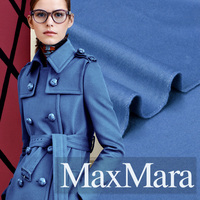 Double Sided High Quality Berber Fleece Cashmere Fabrics Autumn And Winter Clothing Coat Fabric Blue
