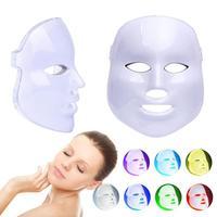 7 Colors LED Face Massager LED Photon Light Photodynamic Skin Rejuvenation Facial Neck Therapy Mask Shrink Pores Health Care B4