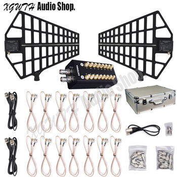 8 Channels Signal Amplifier Antenna Distributor System Antenna Amplifier for Recording Interview UHF Wireless Microphone Meeting